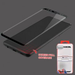 Samsung Galaxy S9 Plus Full Coverage Tempered Glass Screen Protector/Black