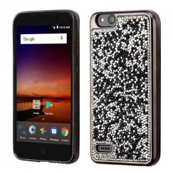 Black Mini Crystals Rhinestones Desire Candy Skin Case (with Electroplated Black Frame)