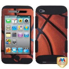 Apple iPod Touch (4th Generation) Basketball-Sports Collection/Black Hybrid Case