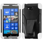 Nokia Lumia 820 White Inverse Advanced Armor Stand Protector Cover