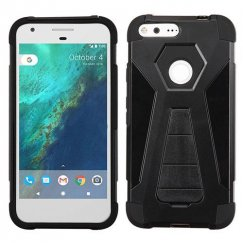 Google Pixel XL Black Inverse Advanced Armor Stand Case