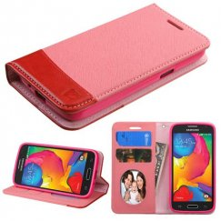 Samsung Galaxy Avant Pink/Red wallet with Card Slot