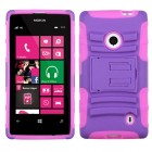 Nokia Lumia 521 Purple/Electric Pink Advanced Armor Stand Case