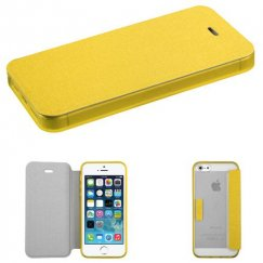 Apple iPhone SE Yellow Wallet with Yellow/T-Clear Gummy Cover Tray