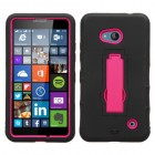 Nokia Lumia 640 Hot Pink/Black Symbiosis Stand Case