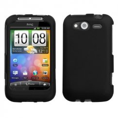 HTC Wildfire S Black Case - Rubberized