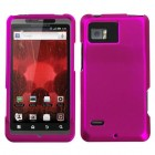 Motorola Droid Bionic Titanium Solid Hot Pink Phone Protector Cover