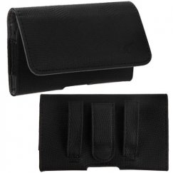 HTC HD2 Black/Gray Wavy Horizontal Pouch