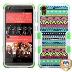 HTC Desire 555 Tribal Sun/Electric Green Hybrid Case
