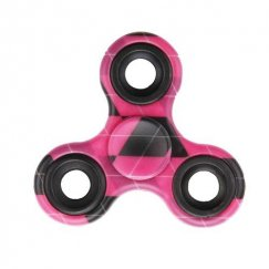 Hot Pink Latticed Triangle Spinner