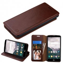 LG LG G Stylo 2 Plus Brown Wallet with Tray