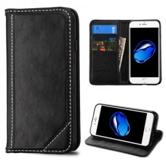 Apple iPhone 7 Black Genuine Leather Wallet