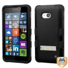 Nokia Lumia 640 Natural Black/Black Hybrid Case with Stand