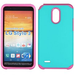LG G Stylo 3 Teal Green/Hot Pink Astronoot Case
