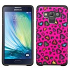 Samsung Galaxy A7 Colorful Glittering Leopard Skin(Hot Pink)/Black Advanced Armor Case