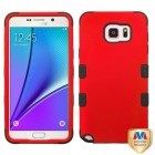 Samsung Galaxy Note 5 Titanium Red/Black Hybrid Phone Protector Cover