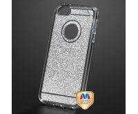 Apple iPhone 5/5s Transparent Smoke Sheer Glitter Premium Candy Skin Cover