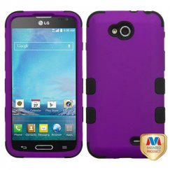 LG Optimus L90 Rubberized Grape/Black Hybrid Case