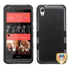 HTC Desire 626 Carbon Fiber/Black Hybrid Phone Protector Cover