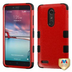 ZTE Grand X Max 2 Natural Red/Black Hybrid Case