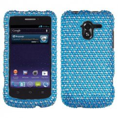 ZTE Avid 4G Dots(Blue/white) Diamante Case