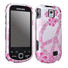 Samsung M910 Intercept Snap On Case, Flower Pink Peace Sign