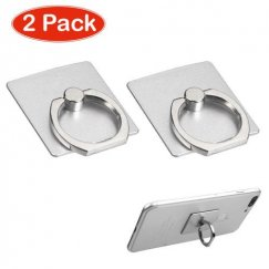 Silver Adhesive Ring Stand (2pcs)