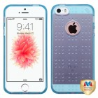 Apple iPhone SE Glassy Transparent Baby Blue SPOTS Candy Skin Cover