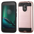 Motorola Moto E3 Rose Gold/Black Brushed Hybrid Case