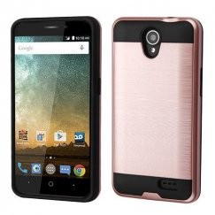 ZTE Prestige 2 Rose Gold/Black Brushed Hybrid Case