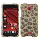 HTC Droid DNA Leopard Skin/Camel Diamante Case