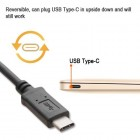 USB 3.1 Type-A USB to Type-C USB Black Data Cable 3 Feet