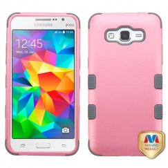 Samsung Galaxy Grand Prime Rubberized Pearl Pink/Iron Gray Hybrid Case