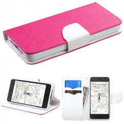 Amazon Amazon Fire Phone Hot Pink Pattern/White Liner wallet with Card Slot