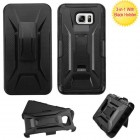 Samsung Galaxy Note 5 Black/Black Advanced Armor Stand Protector Cover (With Black Holster)