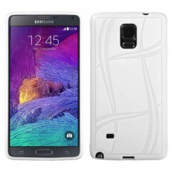 Samsung Galaxy Note 4 White Basketball Texture Candy Skin Cover