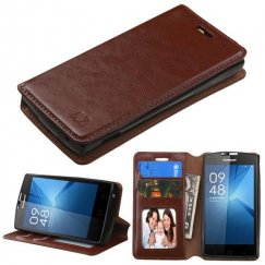 Coolpad Rogue Brown Wallet with Tray