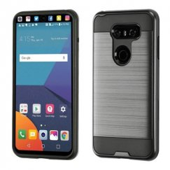 LG V30 Black/Black Brushed Hybrid Case