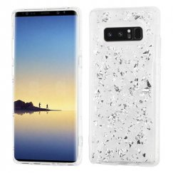 Samsung Galaxy Note 8 Silver Flakes (T-Clear) Krystal Gel Series Candy Skin Cover