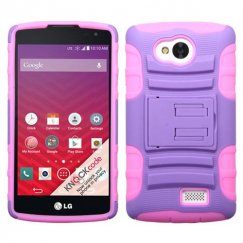 LG Tribute Purple/Electric Pink Advanced Armor Stand Case