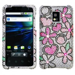 LG G2x Fantastic Flowers Diamante Case