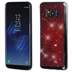 Samsung Galaxy S8 Plus Red Starry Sky (Black) Krystal Gel Series Candy Skin Cover