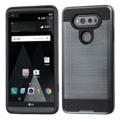 LG V20 Ink Blue/Black Brushed Hybrid Case