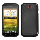 HTC One S Transparent Clear/Solid Black Gummy Cover