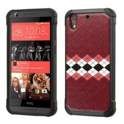 HTC Desire 555 Modern Argyle Backing/Black Astronoot Case