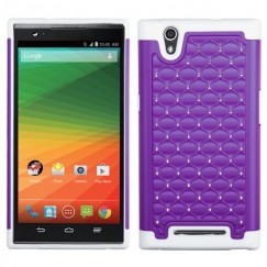 ZTE ZMax Purple/Solid White FullStar Case
