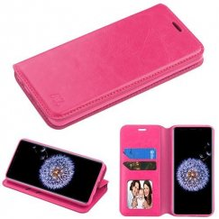 Samsung Galaxy S9 Plus Hot Pink Wallet with Tray