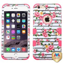 Apple iPhone 6/6s Plus Pink Fresh Roses/Electric Pink Hybrid Case