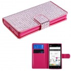 LG Optimus L9 Pink Diamonds Book-Style Wallet with Card Slot