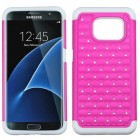 Samsung Galaxy S7 Edge Hot Pink/Solid White FullStar Protector Cover